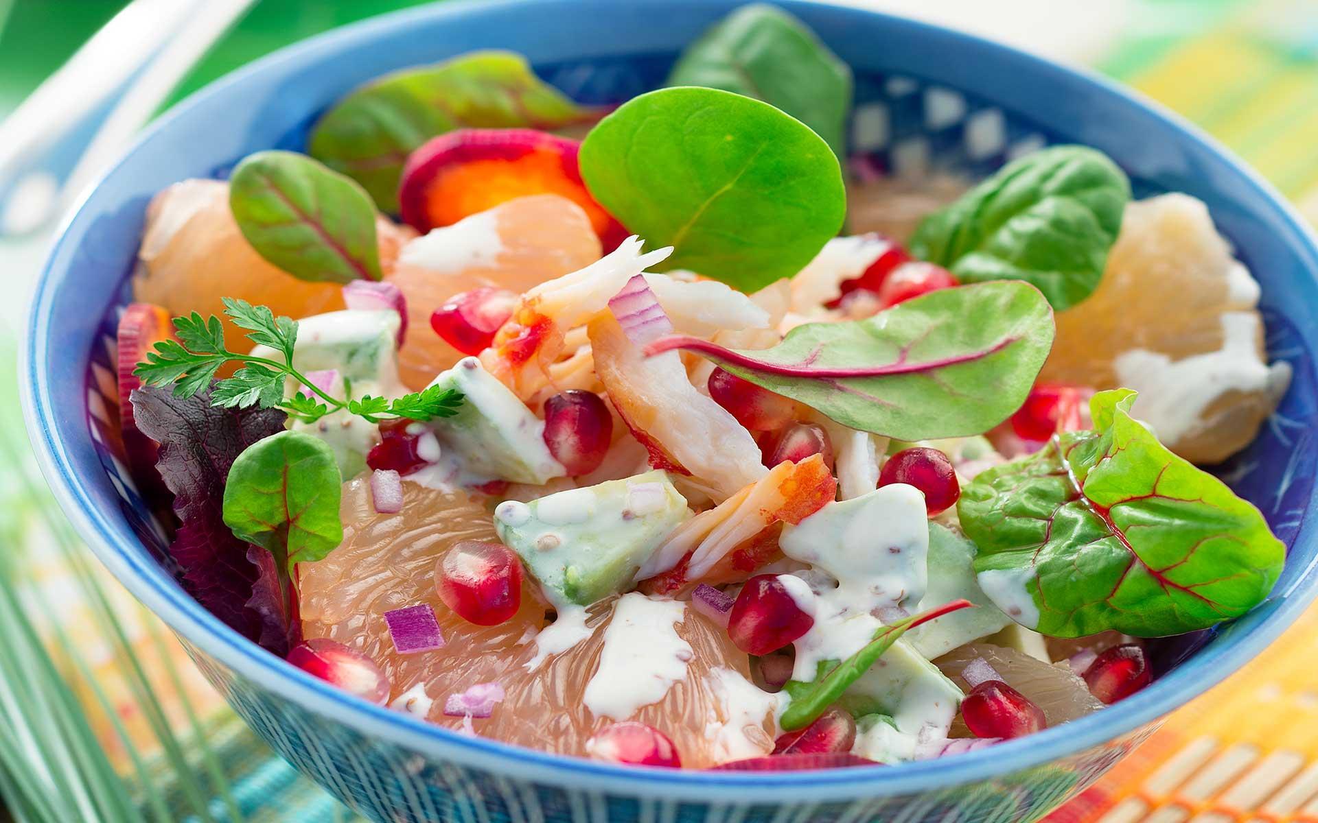Salade de crabe et sauce à la crème - Recettes de tous les ...
