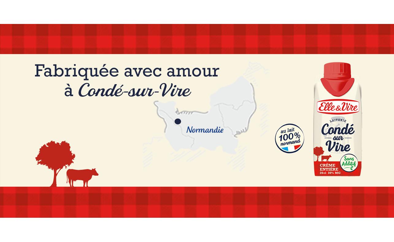 Découvrez La crème entière de Condé-sur-Vire