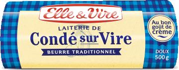 Beurre de la laiterie de Condé-sur-Vire doux 82% MG