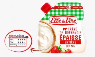 La Crème entière épaisse en poche de Normandie