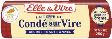 Le Beurre de Condé-sur-Vire demi-sel