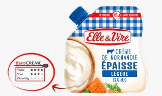 La Crème légère épaisse en poche de Normandie
