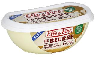 Le Beurre réduit en M.G. 60% doux