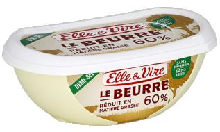 Le Beurre réduit en M.G. 60% demi-sel