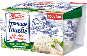 Fromage Fouetté Ail & Fines herbes, échalotes croquantes