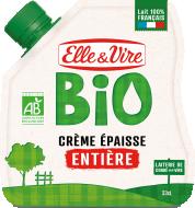 La Crème entière Bio épaisse en poche