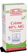 Crème 40% Ganache et Pâtisserie