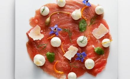 Tuna Carpaccio Sublime Cream with Parmesan