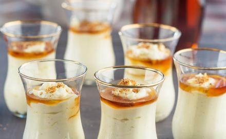 Crème sésame et sirop d'érable