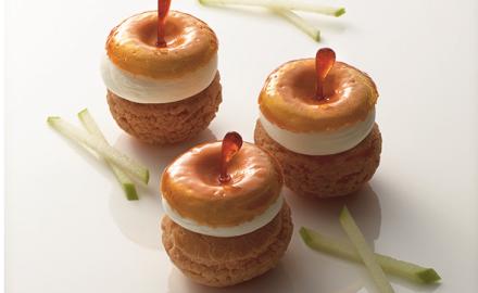 Salambo inspired tatin, style choux buns
