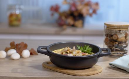 Mushroom omelette soufflé
