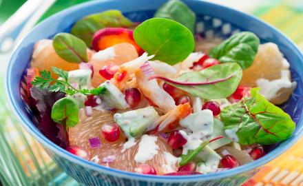 Salade de crabe et sauce à la crème