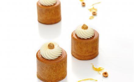 Petits gâteaux feuilletés noisette citron