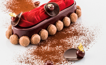 Bûche chocolat griottes