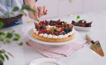 Tarte couronne aux fruits rouges