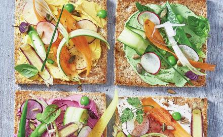 Toasts Carré Frais légumes d'été