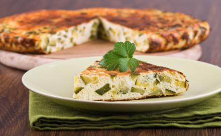Quiche sans pâte courgette gorgonzola