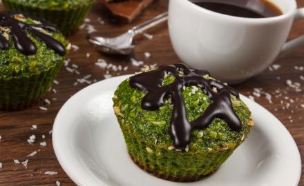 Moelleux thé vert cœur coulant chocolat
