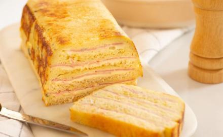 Cake Croque-Monsieur à la crème de roquefort