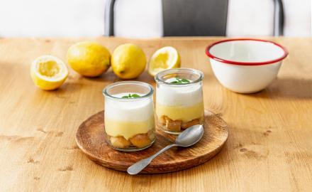 Verrines façon charlotte au citron