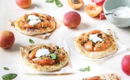 Tarte fine abricot pistache et sa crème légère