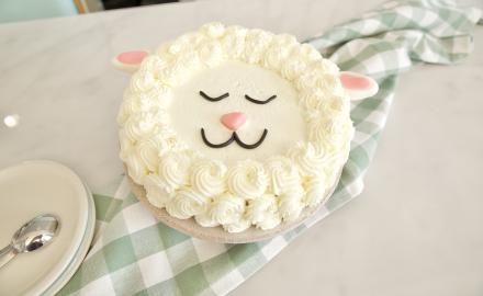 Gâteau mouton à la compote de pomme