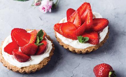 Tartelettes fraise basilic mascarpone