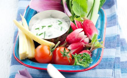 Dips et légumes