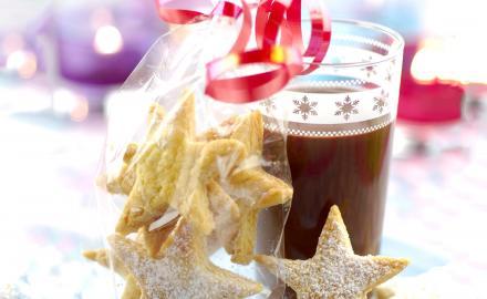 Sablés de Noël et ganache au chocolat