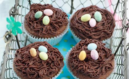 Petits nids au chocolat