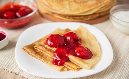 Crêpes gourmandes aux fraises