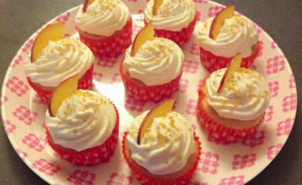 Cupcakes vanille - nectarine