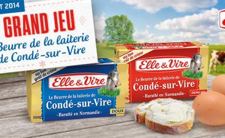 Grand Jeu Beurre de la laiterie de Condé-sur-Vire