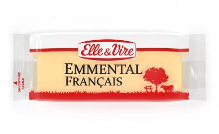 Nouvelle portion fromage : l'emmental Elle & Vire !