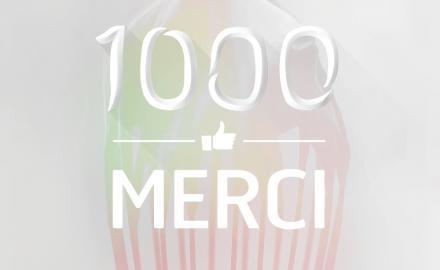 1000 FANS sur Facebook !