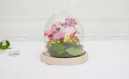 Le bouquet sous cloche