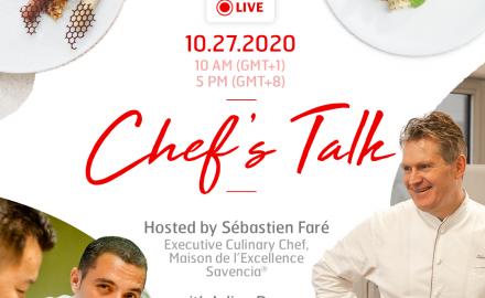 Chef's Talk : échanges, conseils, recettes… Ne manquez pas la prochaine édition !