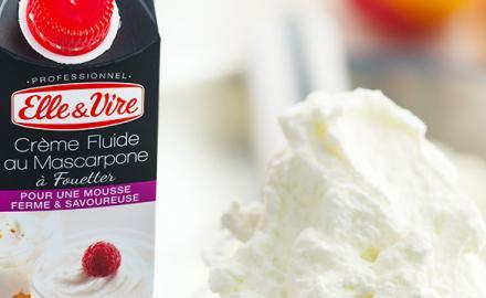 La crème au Mascarpone: un produit idéal en Chantilly !