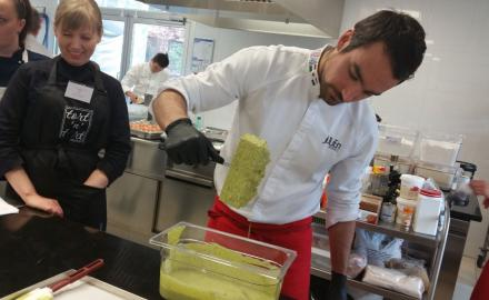 Pastry chefs training with Nicolas Boussin and Julien Alvarez