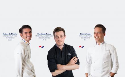 Retour en images sur deux démonstrations uniques de pâtisserie à Paris et à Nice !