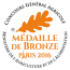 Médaille de bronze Concours Général Agricole 2016